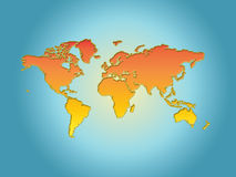 Wereld. Royalty-vrije Stock Afbeelding