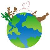 Wereld 2 vector illustratie