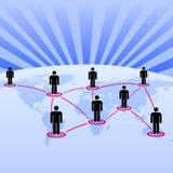 Wereld als globale netwerkachtergrond Stock Fotografie