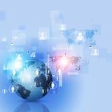 Wereld Bedrijfs Communicatie Achtergrond Stock Foto's