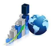Wereld bedrijfsgrafiek Stock Afbeelding
