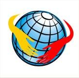 Wereld in de hand Royalty-vrije Stock Foto
