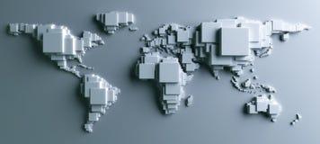 Wereld die in blokken wordt gemaakt royalty-vrije illustratie