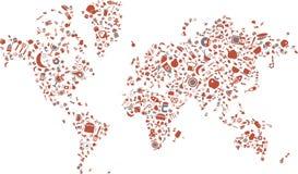 Wereld die van voedselpictogrammen wordt gemaakt Royalty-vrije Stock Afbeelding