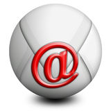 Wereld E-mail Stock Afbeelding