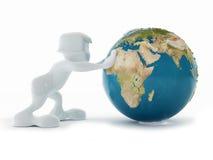 Wereld in een hand Royalty-vrije Stock Afbeelding