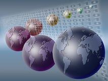 Wereld en binaire code (02) Royalty-vrije Stock Afbeelding