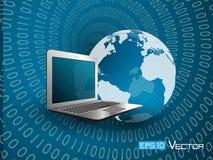 Wereld en computer Vector Illustratie