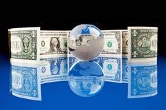 Wereld en Geld Stock Afbeeldingen