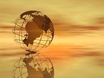 Wereld en hemel Royalty-vrije Stock Foto's