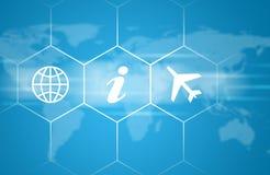 Wereld en vliegtuig Stock Foto
