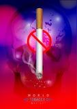 Wereld Geen Tabaksdag royalty-vrije illustratie