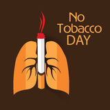 Wereld Geen Tabaksdag Stock Foto's