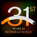 Wereld Geen Tabaksdag Royalty-vrije Stock Afbeeldingen