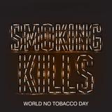 Wereld Geen Tabaksdag Stock Afbeeldingen
