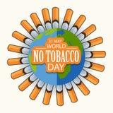 Wereld Geen Tabaksdag Royalty-vrije Stock Fotografie