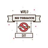 Wereld Geen Tabaksdag Vector illustratie Royalty-vrije Stock Afbeeldingen