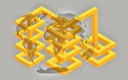 Wereld Grafische Marketing Royalty-vrije Stock Foto