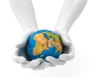 Wereld in handen Stock Fotografie