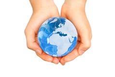 Wereld in handen stock afbeeldingen