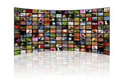 Wereld in het scherm Royalty-vrije Stock Afbeelding