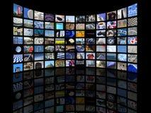 Wereld in het scherm Royalty-vrije Stock Afbeeldingen