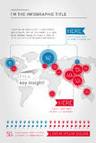 Wereld infographic malplaatje Stock Fotografie