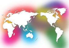 wereld kaart Stock Afbeeldingen