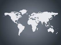 wereld kaart Royalty-vrije Stock Afbeelding