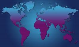Wereld Map01 stock illustratie