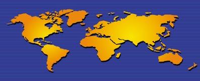 Wereld Map05 Stock Afbeeldingen