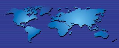 Wereld Map06 Stock Foto's