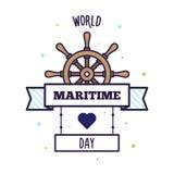 Wereld Maritieme Dag Vector illustratie Stock Foto