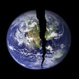 Wereld met Barst Stock Illustratie