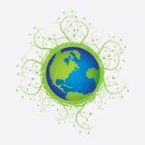 Wereld met klimmer vector illustratie
