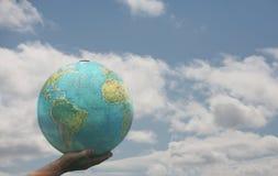 Wereld in mijn hand Stock Fotografie