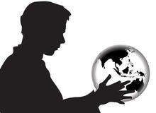 Wereld in Mijn Handen vector illustratie