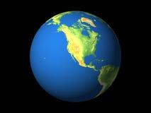 Wereld, Noord-Amerika, de Stille Oceaan Stock Afbeeldingen