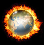 Wereld op brand Stock Afbeeldingen