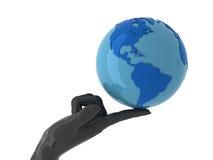 Wereld op uw vinger Stock Afbeelding