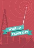 Wereld radiodag Stock Afbeelding