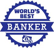 Wereld` s Beste Bankier Money Royalty-vrije Stock Foto's