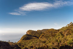 Wereld` s Eind, Horton Plains National Park in Sri Lanka Royalty-vrije Stock Foto