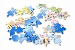 Wereld in stukken Stock Foto