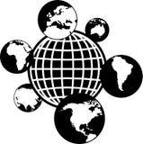 Wereld van bollen stock illustratie