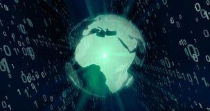 Wereld van digitaal technologieconcept stock afbeelding