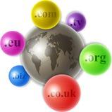 Wereld van domeinen Stock Foto's