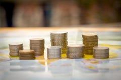 Wereld van geld Stock Foto's