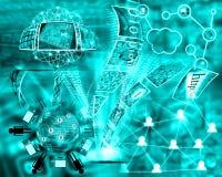 Wereld van Internet Stock Afbeelding