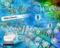 Wereld van Internet Stock Afbeeldingen